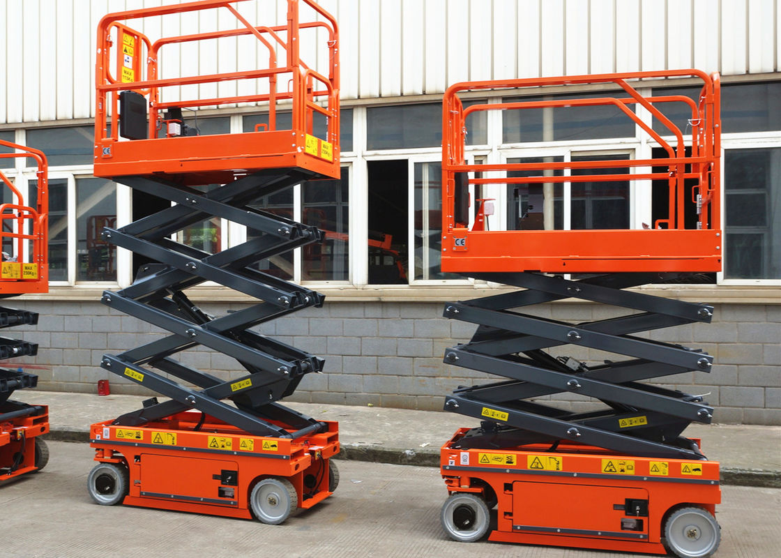 Scissor Electric Work Platform Lifts Proportional Control For Aerial Working